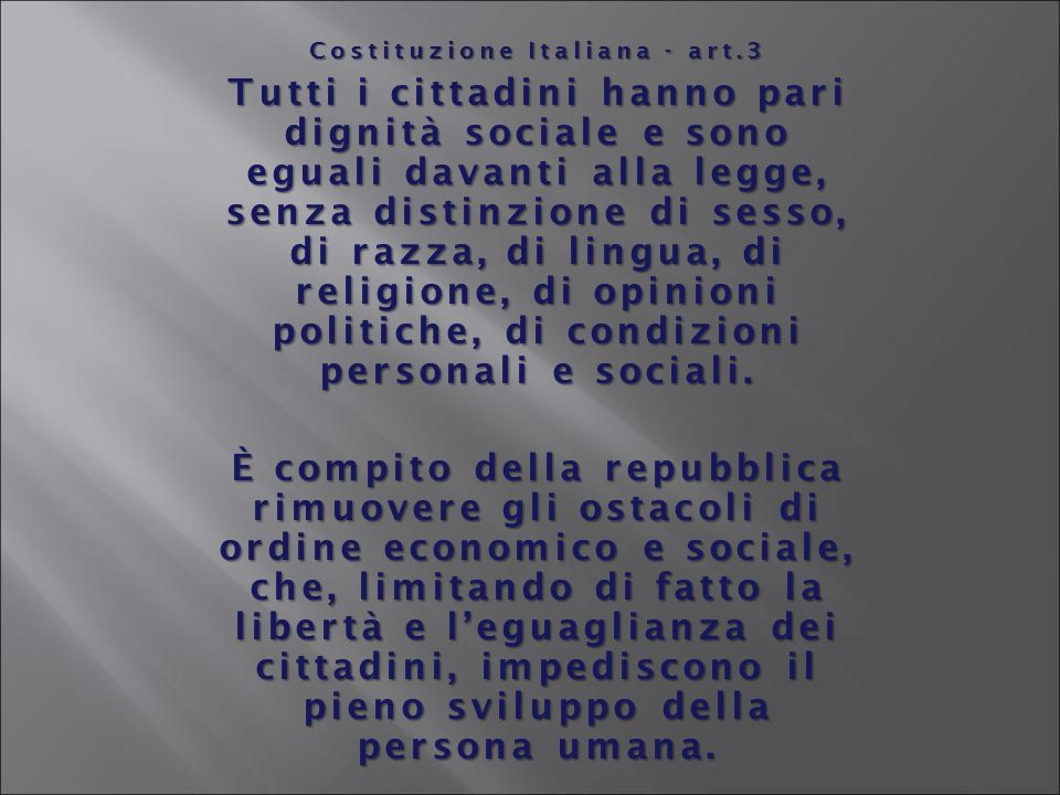 Costituzione Italiana - art.3