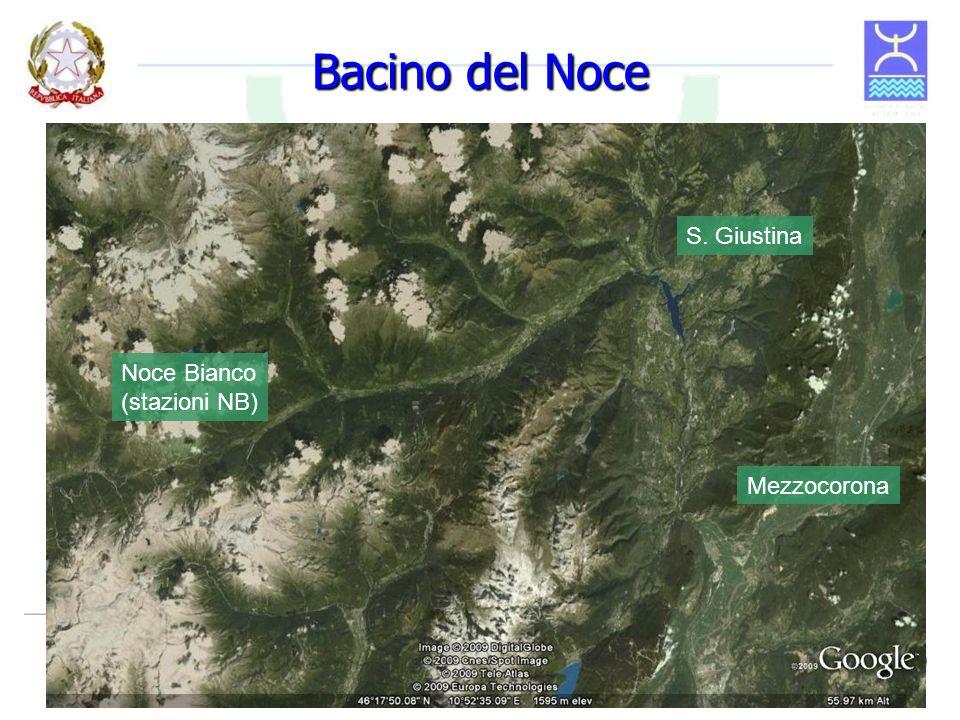 Bacino del Noce S. Giustina Noce Bianco (stazioni NB) Mezzocorona