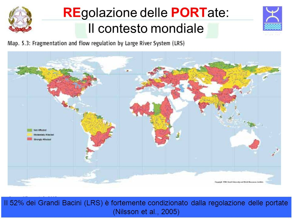 REgolazione delle PORTate: Il contesto mondiale