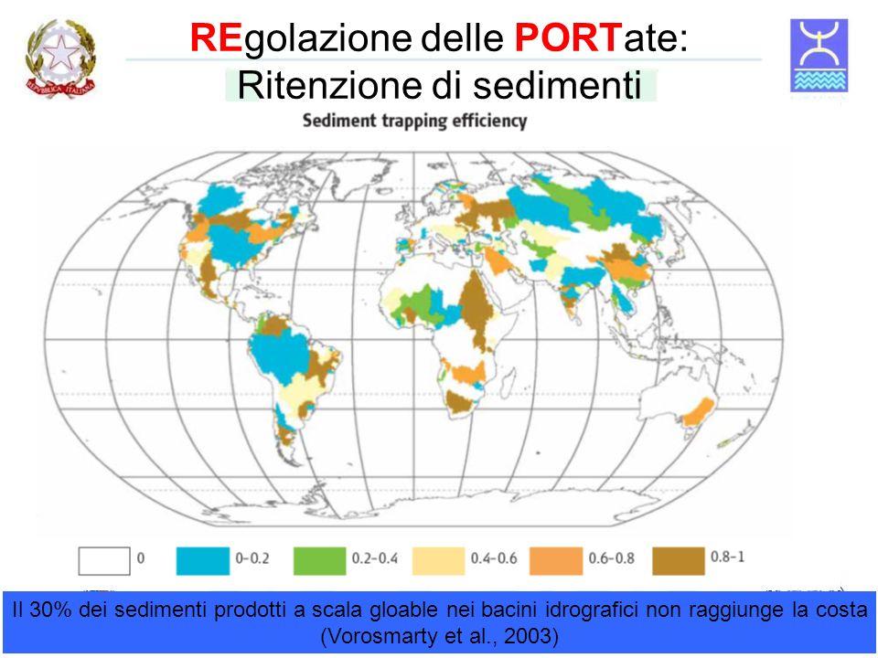 REgolazione delle PORTate: Ritenzione di sedimenti