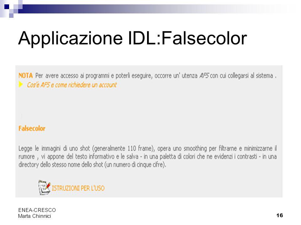 Applicazione IDL:Falsecolor