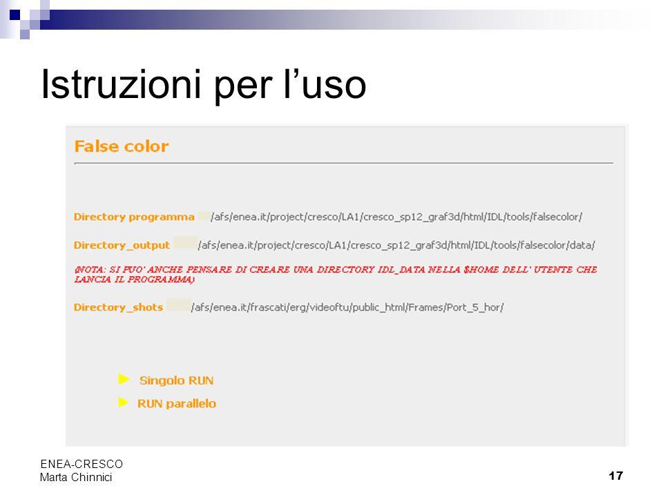 Istruzioni per l'uso ENEA-CRESCO Marta Chinnici