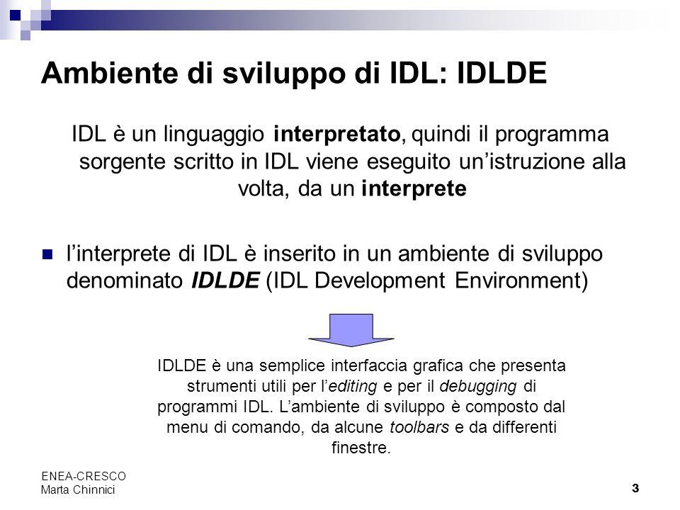 Ambiente di sviluppo di IDL: IDLDE