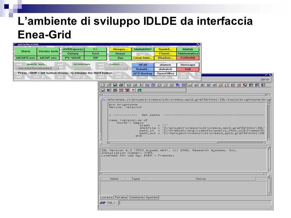 L'ambiente di sviluppo IDLDE da interfaccia Enea-Grid