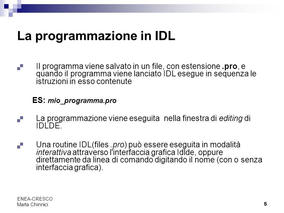 La programmazione in IDL