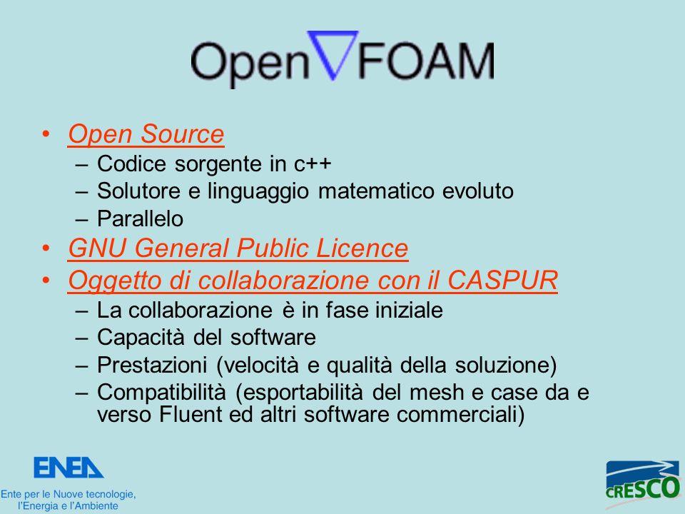 GNU General Public Licence Oggetto di collaborazione con il CASPUR