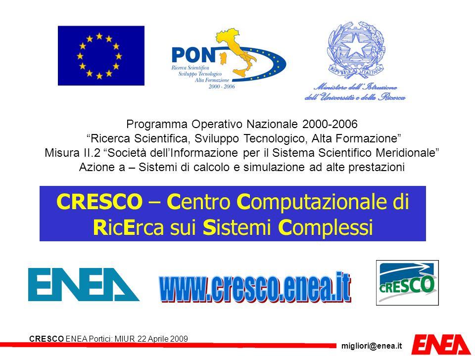 www.cresco.enea.it CRESCO – Centro Computazionale di