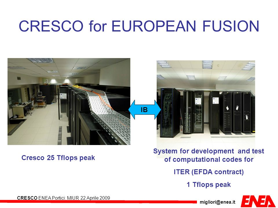 CRESCO for EUROPEAN FUSION