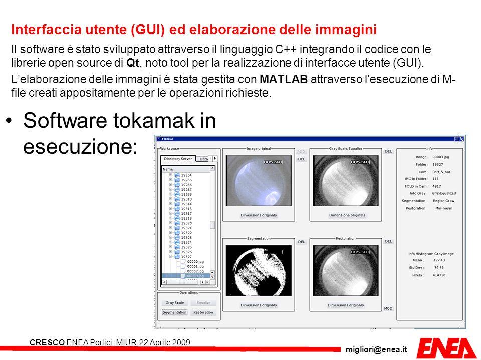 Interfaccia utente (GUI) ed elaborazione delle immagini