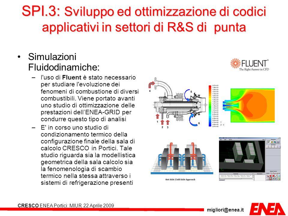 SPI.3: Sviluppo ed ottimizzazione di codici applicativi in settori di R&S di punta
