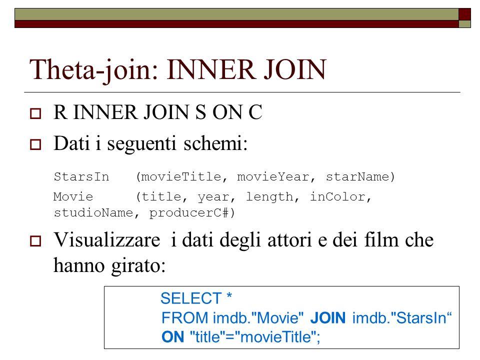 Theta-join: INNER JOIN