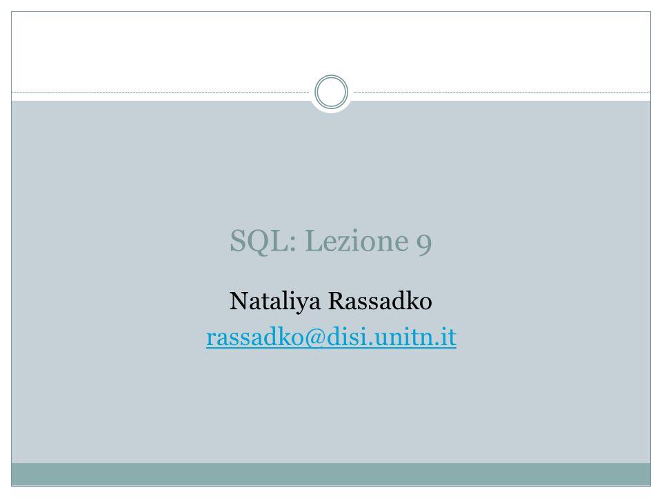 Nataliya Rassadko rassadko@disi.unitn.it