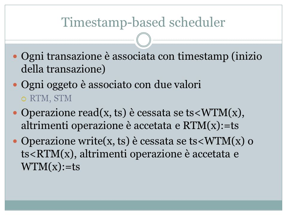 Timestamp-based scheduler