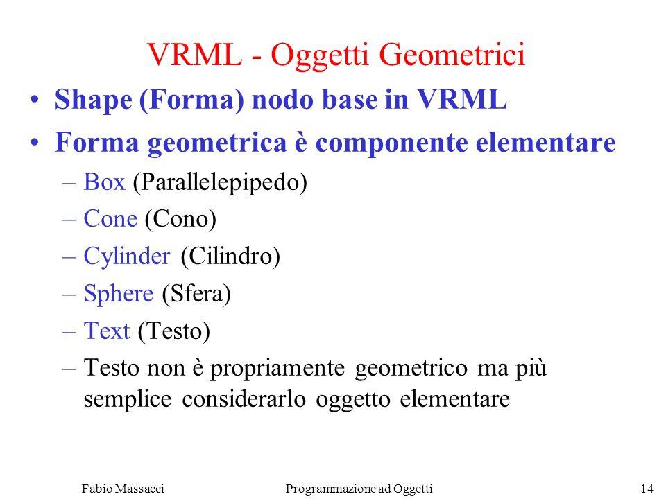 VRML - Oggetti Geometrici