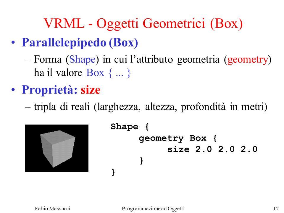 VRML - Oggetti Geometrici (Box)