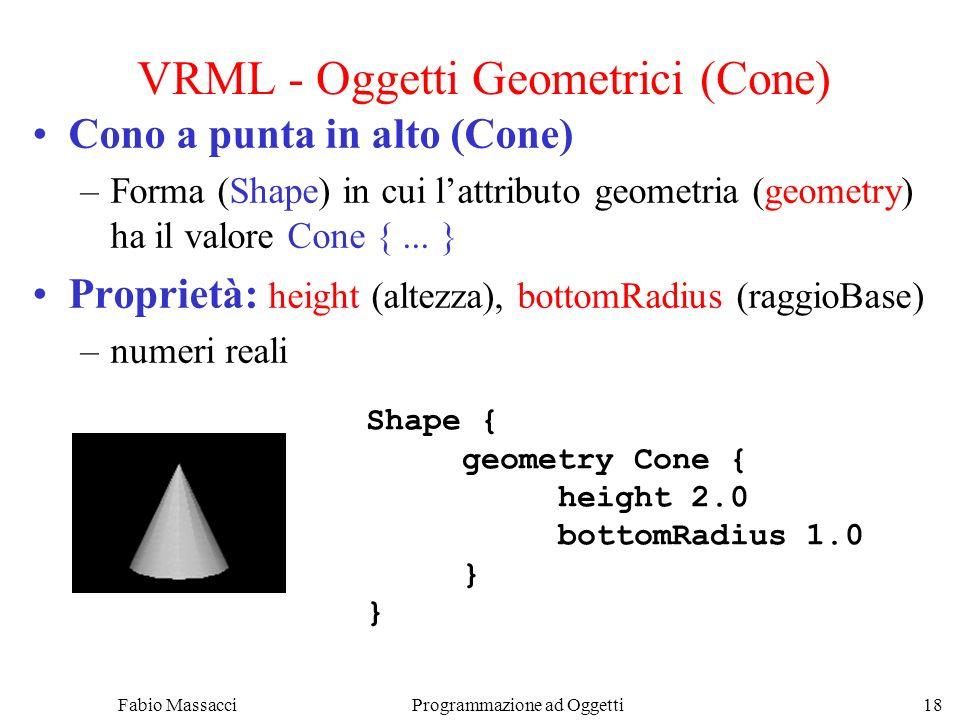 VRML - Oggetti Geometrici (Cone)