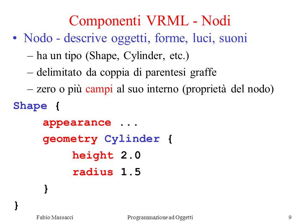 Fabio Massacci Programmazione ad Oggetti