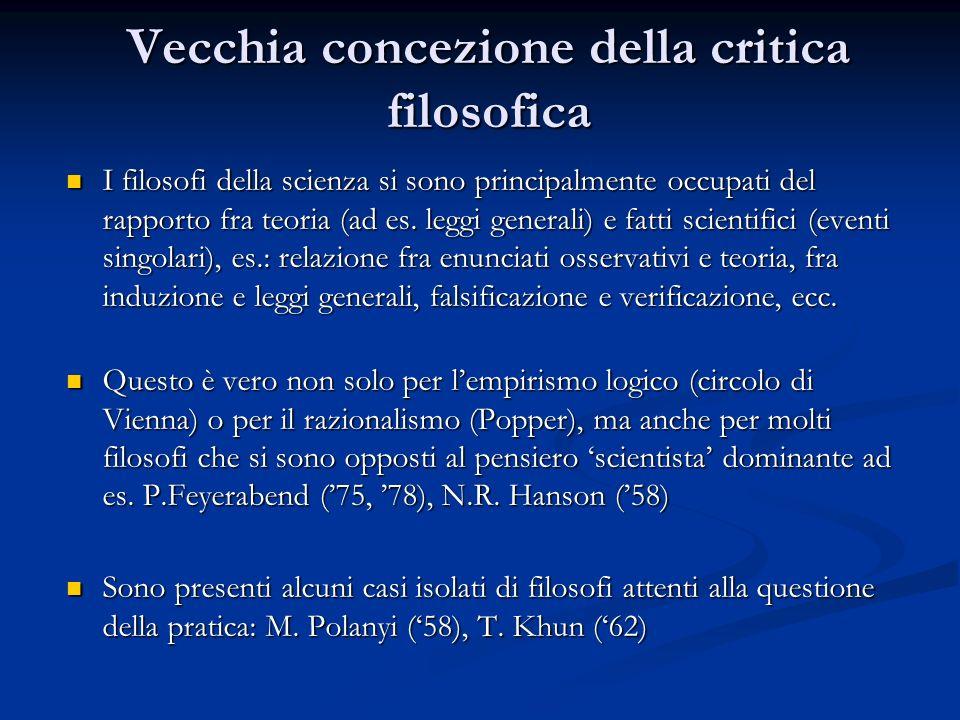 Vecchia concezione della critica filosofica