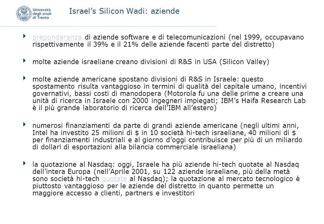 Israel's Silicon Wadi: aziende