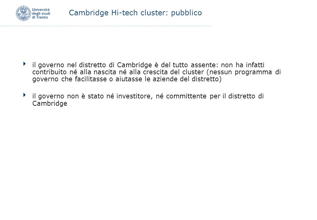 Cambridge Hi-tech cluster: pubblico