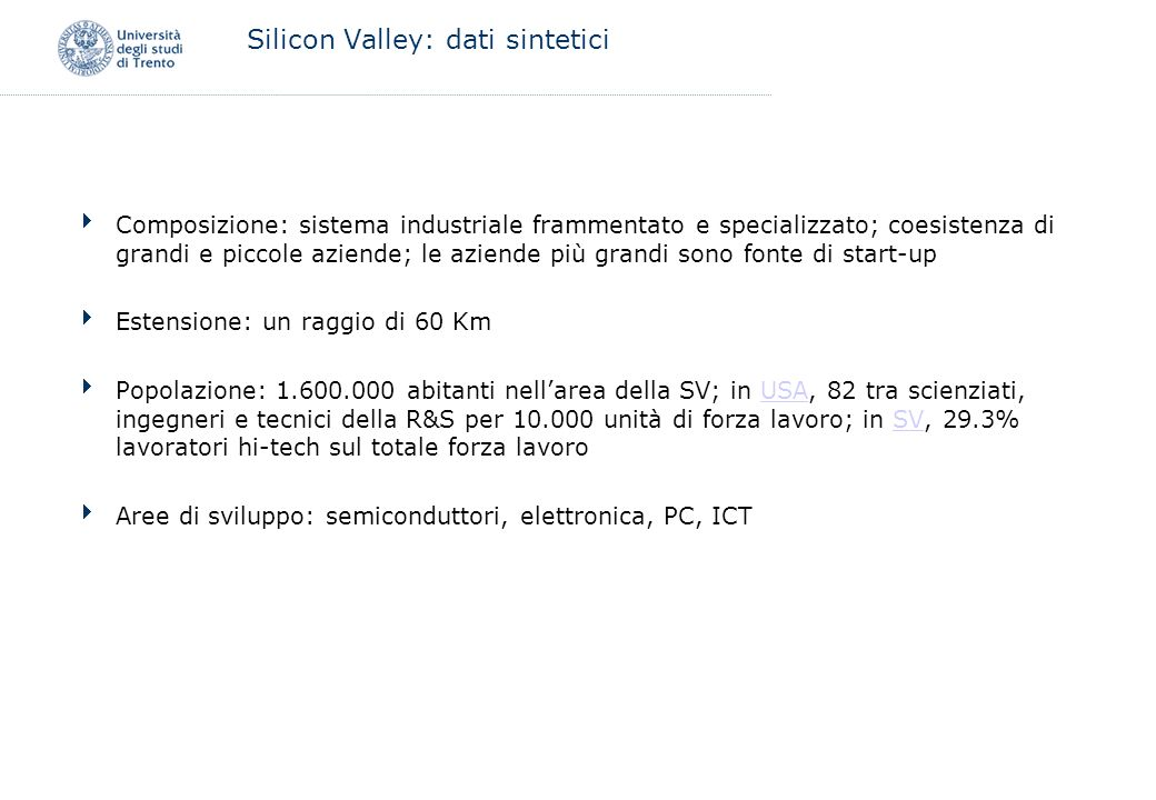 Silicon Valley: dati sintetici