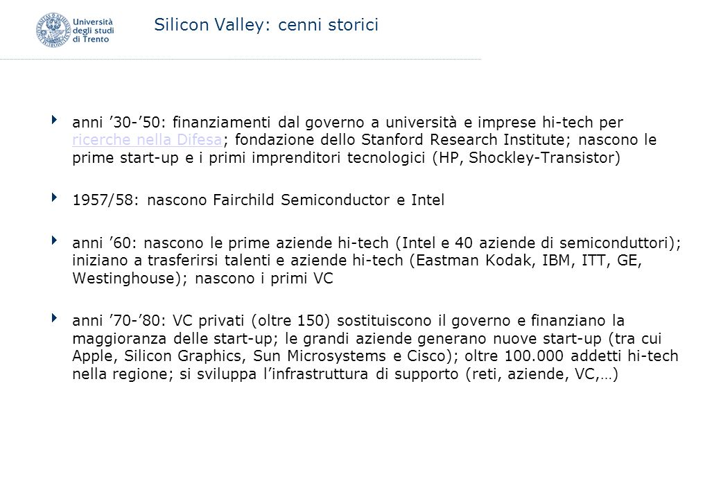 Silicon Valley: cenni storici