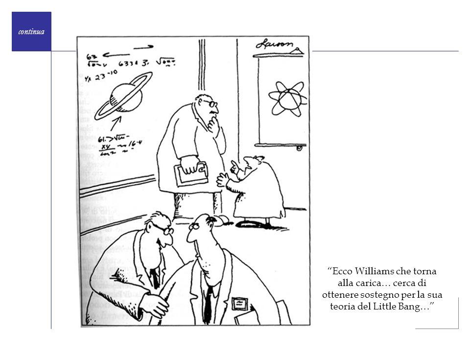 continua Ecco Williams che torna alla carica… cerca di ottenere sostegno per la sua teoria del Little Bang…