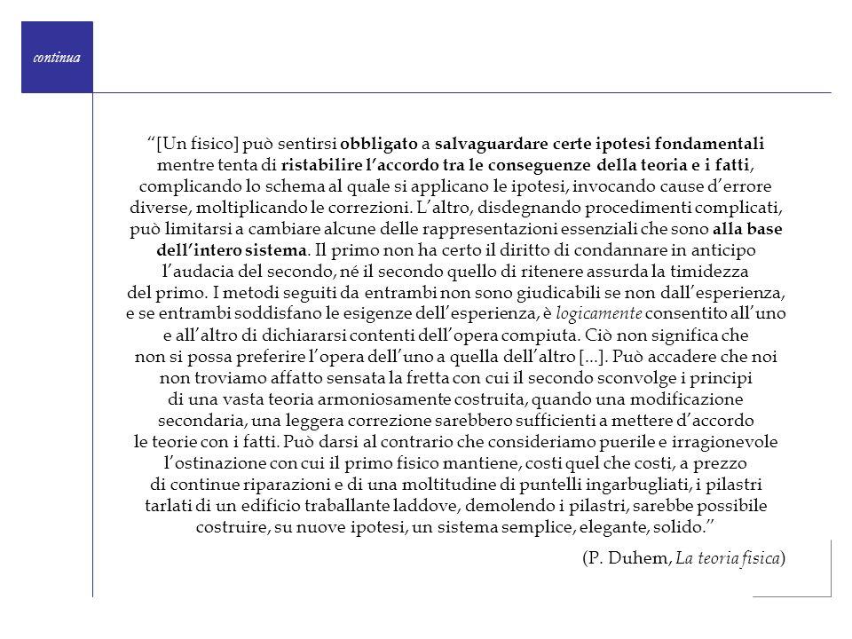 (P. Duhem, La teoria fisica)
