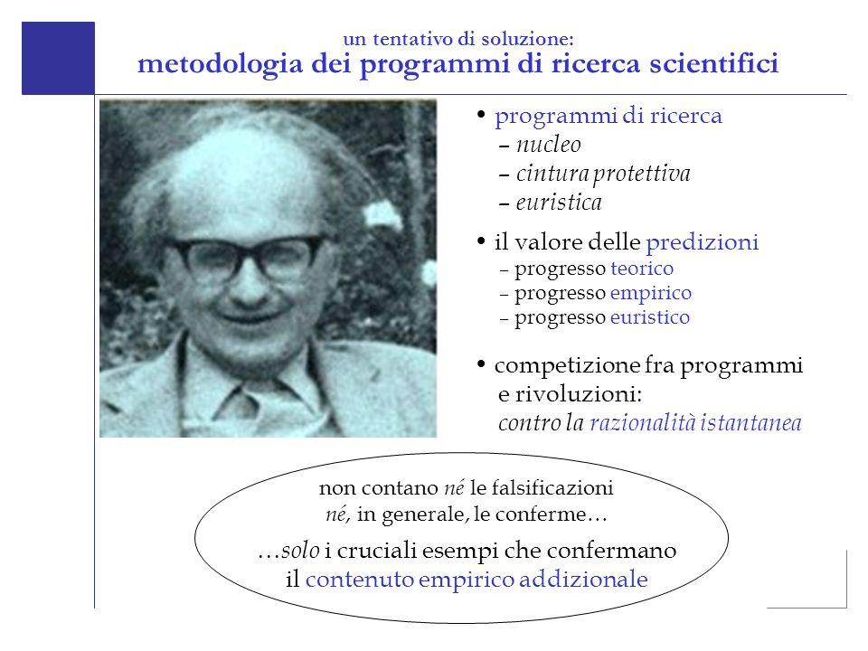 metodologia dei programmi di ricerca scientifici