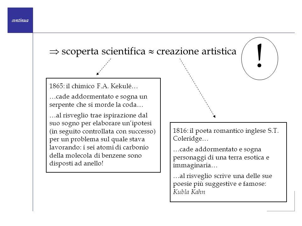 !  scoperta scientifica  creazione artistica