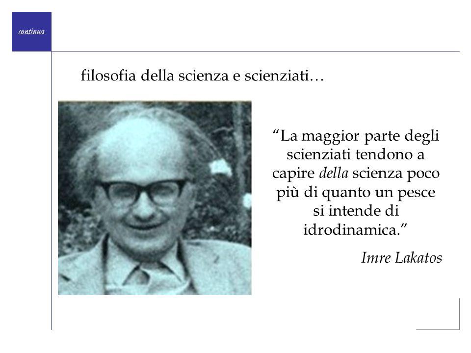 filosofia della scienza e scienziati…