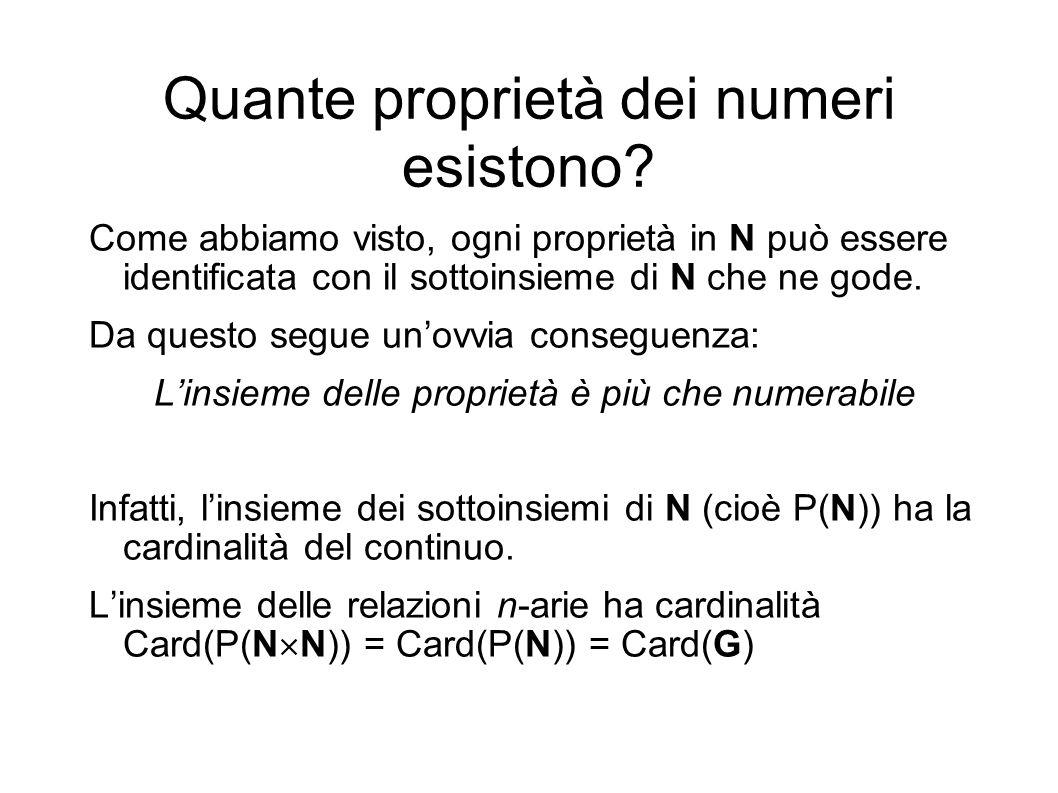 Quante proprietà dei numeri esistono