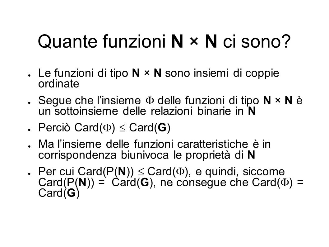 Quante funzioni N × N ci sono