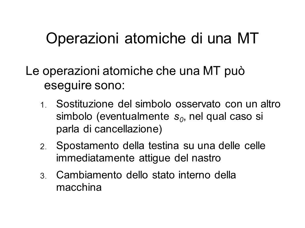 Operazioni atomiche di una MT