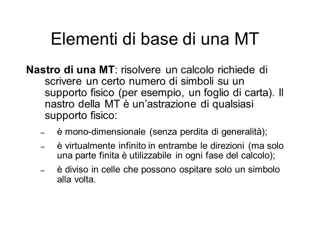 Elementi di base di una MT