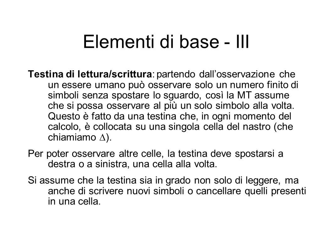 Elementi di base - III