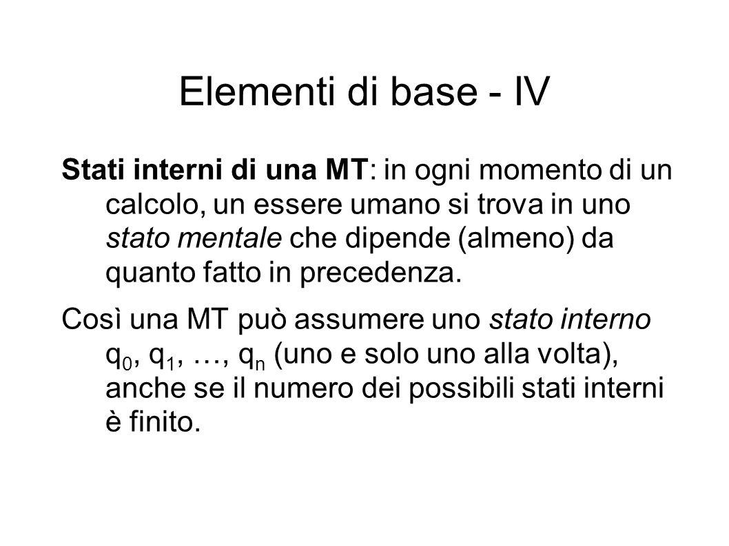 Elementi di base - IV