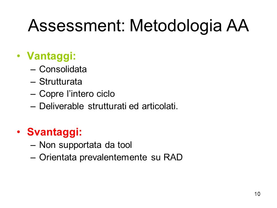 Assessment: Metodologia AA