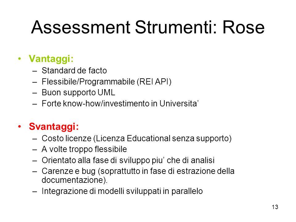 Assessment Strumenti: Rose