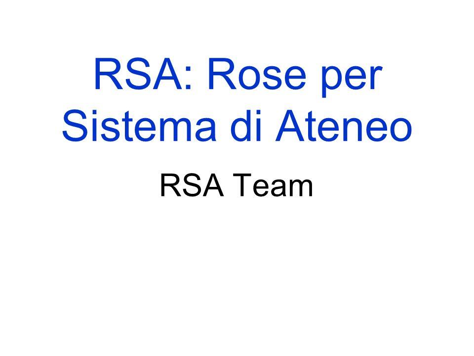 RSA: Rose per Sistema di Ateneo