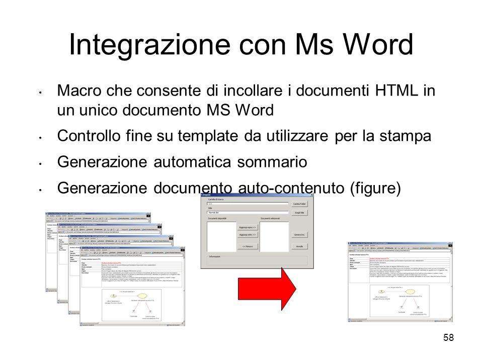 Integrazione con Ms Word