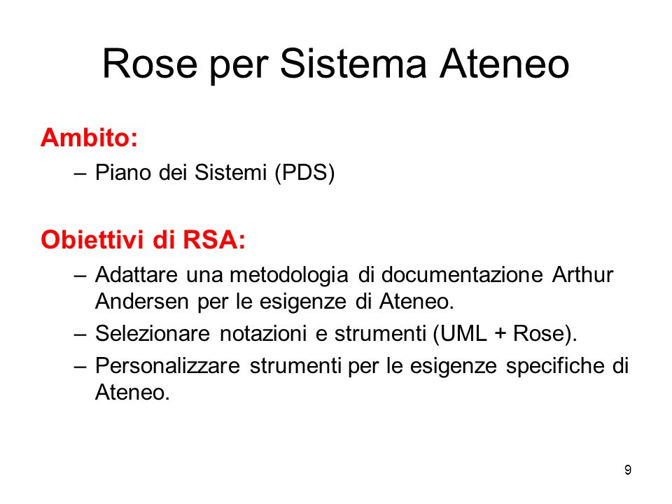Rose per Sistema Ateneo