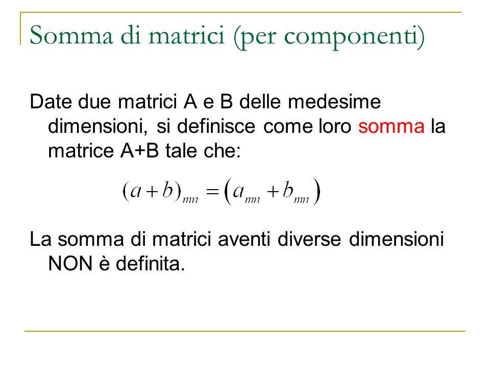 Somma di matrici (per componenti)