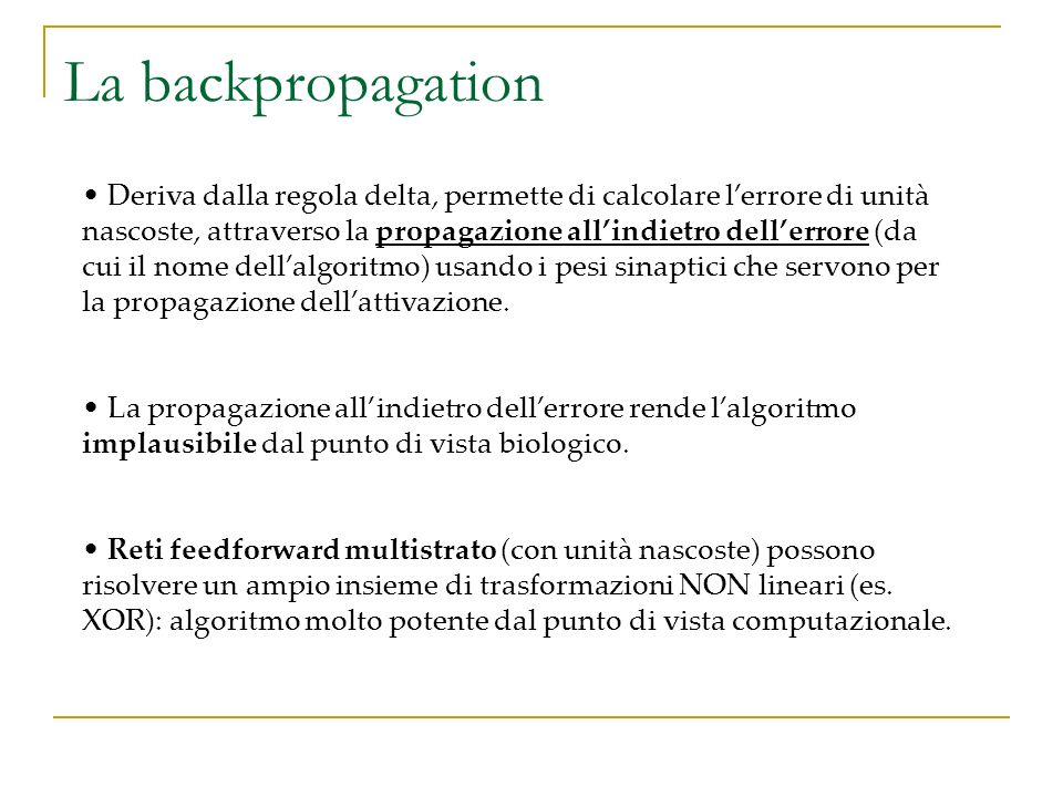 La backpropagation