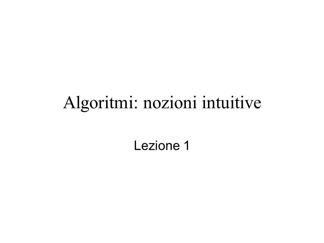 Algoritmi: nozioni intuitive