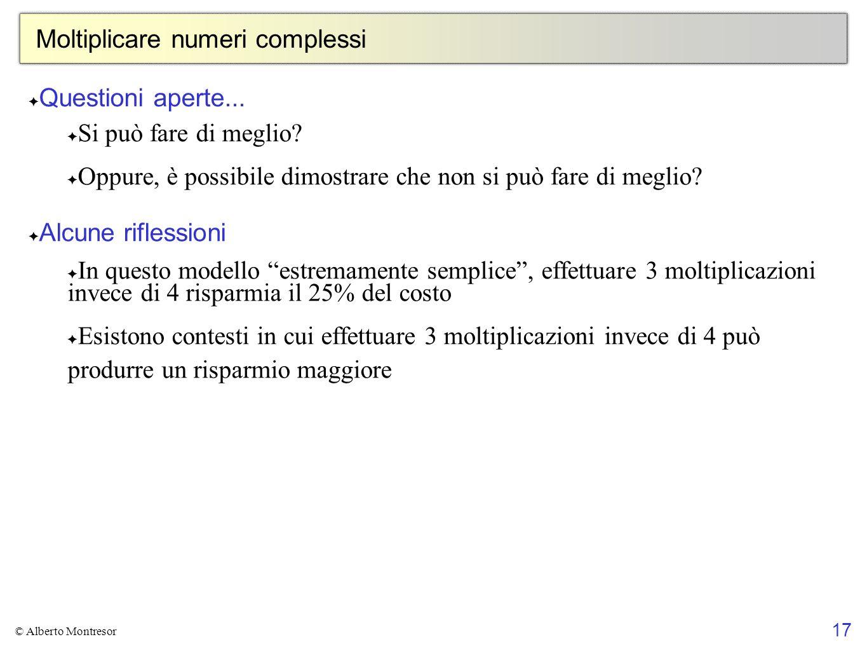 Moltiplicare numeri complessi