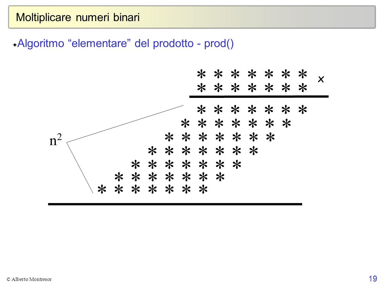 Moltiplicare numeri binari