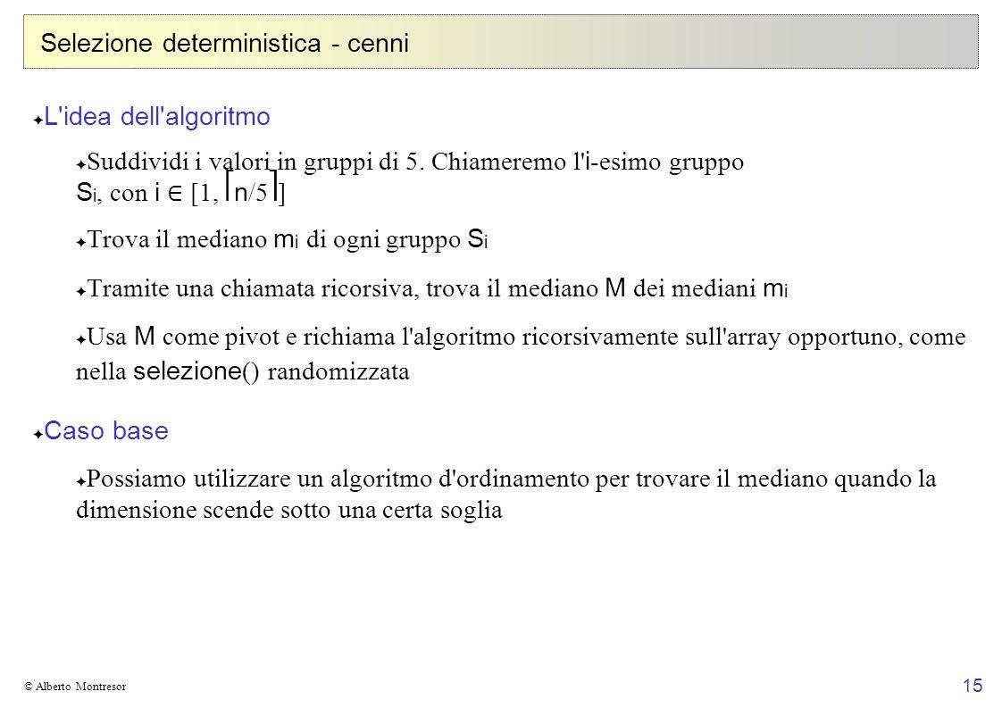 Selezione deterministica - cenni