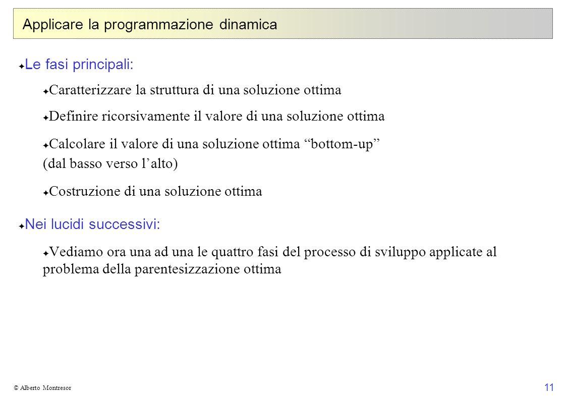Applicare la programmazione dinamica