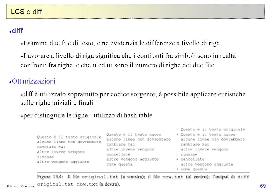 per distinguire le righe - utilizzo di hash table